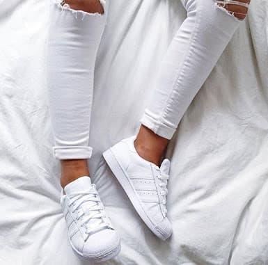 DISKON !! Adidas Superstar Foundation pack Triple white all white Original