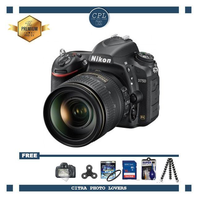 NIKON D750 KIT 24-120mm WIFI Hitam - FREE Accessories
