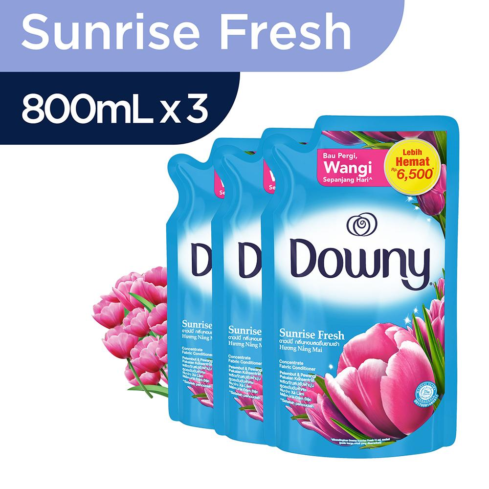 Downy Sunrise Fresh Refill 800ml - Paket Isi 3 By Lazada Retail Downy.