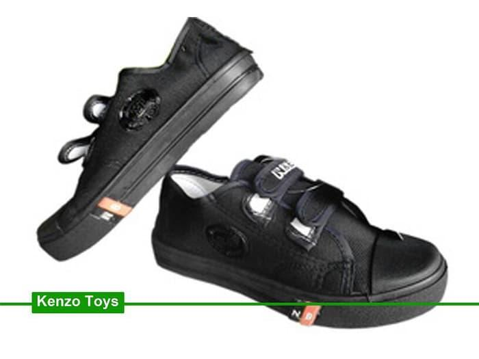Sepatu Sekolah Anak/Pria/Wanita NB VelcroPendek Full Hitam Converse - R4FCzo