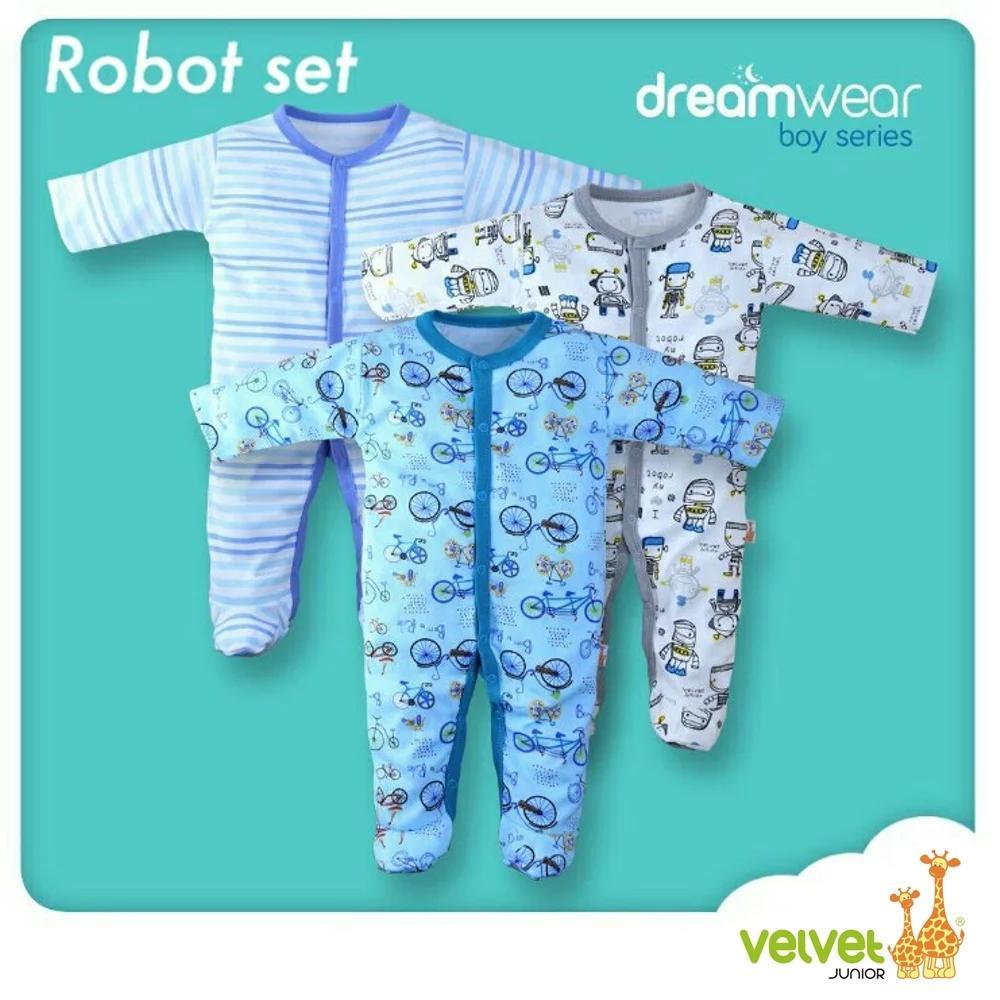 Velvet Junior Random Motif Dreamwear Newborn 0-3m Boy By Lolibi.