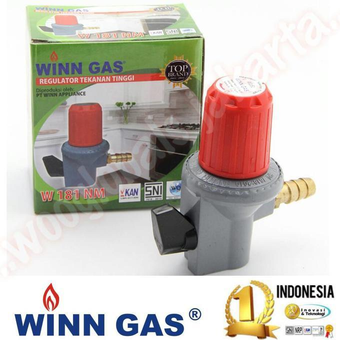 Regulator Kompor High Pressure Winn Gas Hp W.181-Nm Ori Sni Stok Terbatas !!