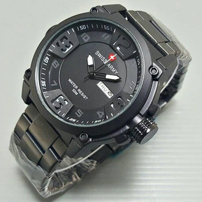 Jam Tangan Pria Swiss Army Rantai Daydate / jam tangan trend / jam tangan ori / jam tangan trendy / jam tangan branded / jam tangan original / jam tangan keren / jam tangan murah