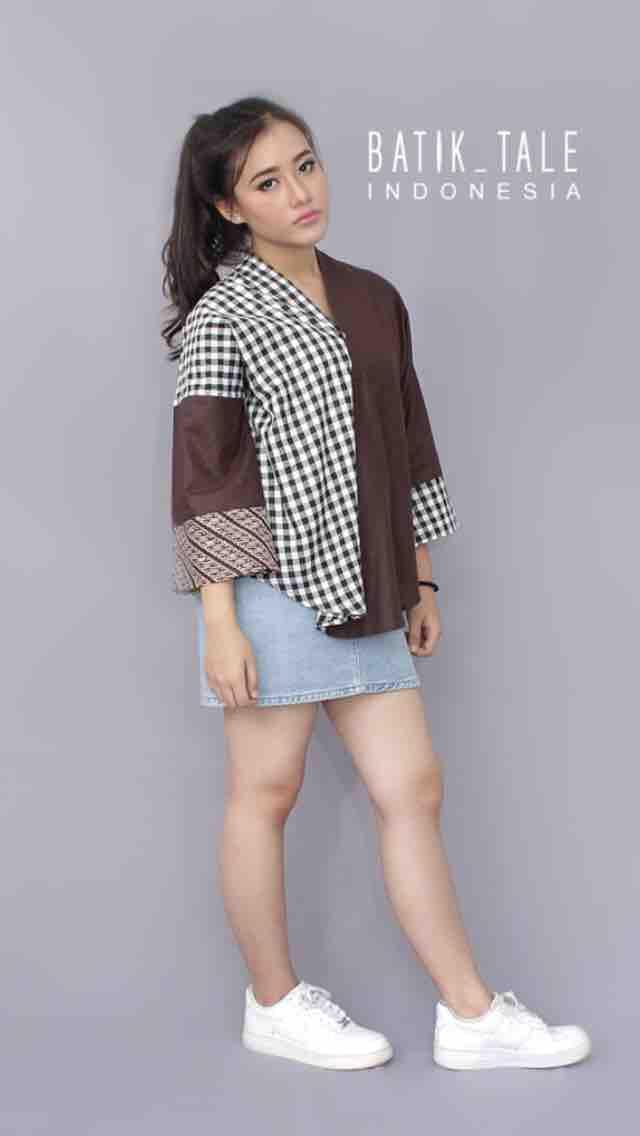 MALYATOP FROM BATIK TALE - Atasan/Top batik kombinasii wanita