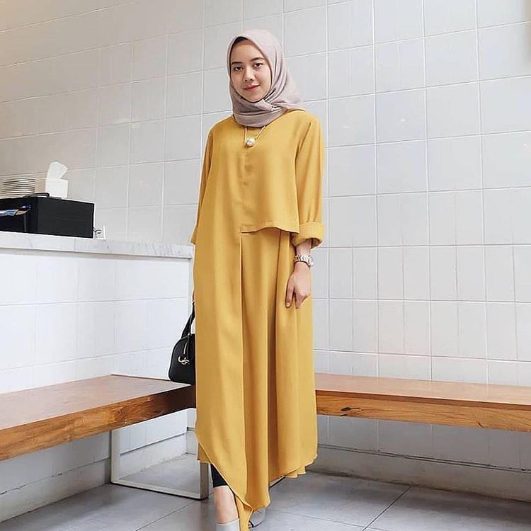 Baju Original Inul Tunik Balotely Pakaian Wanita Muslim panjang Fashion Cewek Atasan Fashionable Terbaru Simple Casual 2018