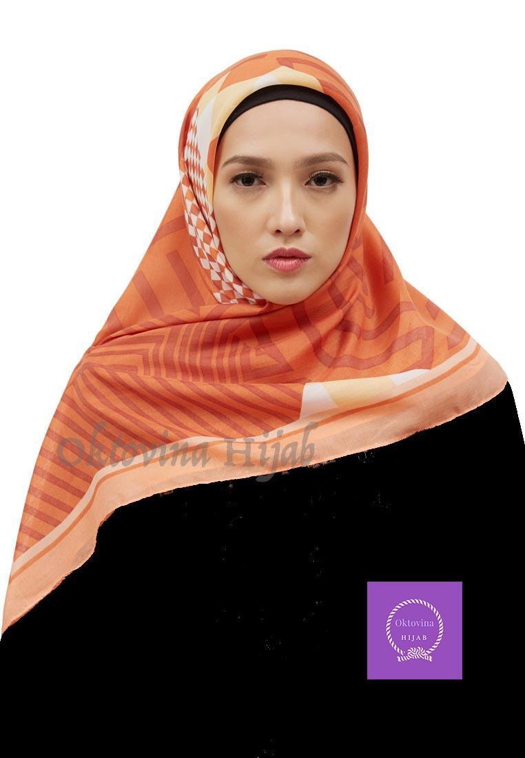 Jilbab Segiempat Ruby Kerudung Hijab Orange Daftar Harga Terkini Shafeeya Segi Empat Damia Light Lazada