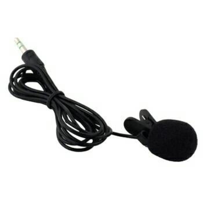 HARGA DISKON!!! 3.5mm Microphone with clip on Mic Mik Mike HP PC iphone Mikrofon Klip