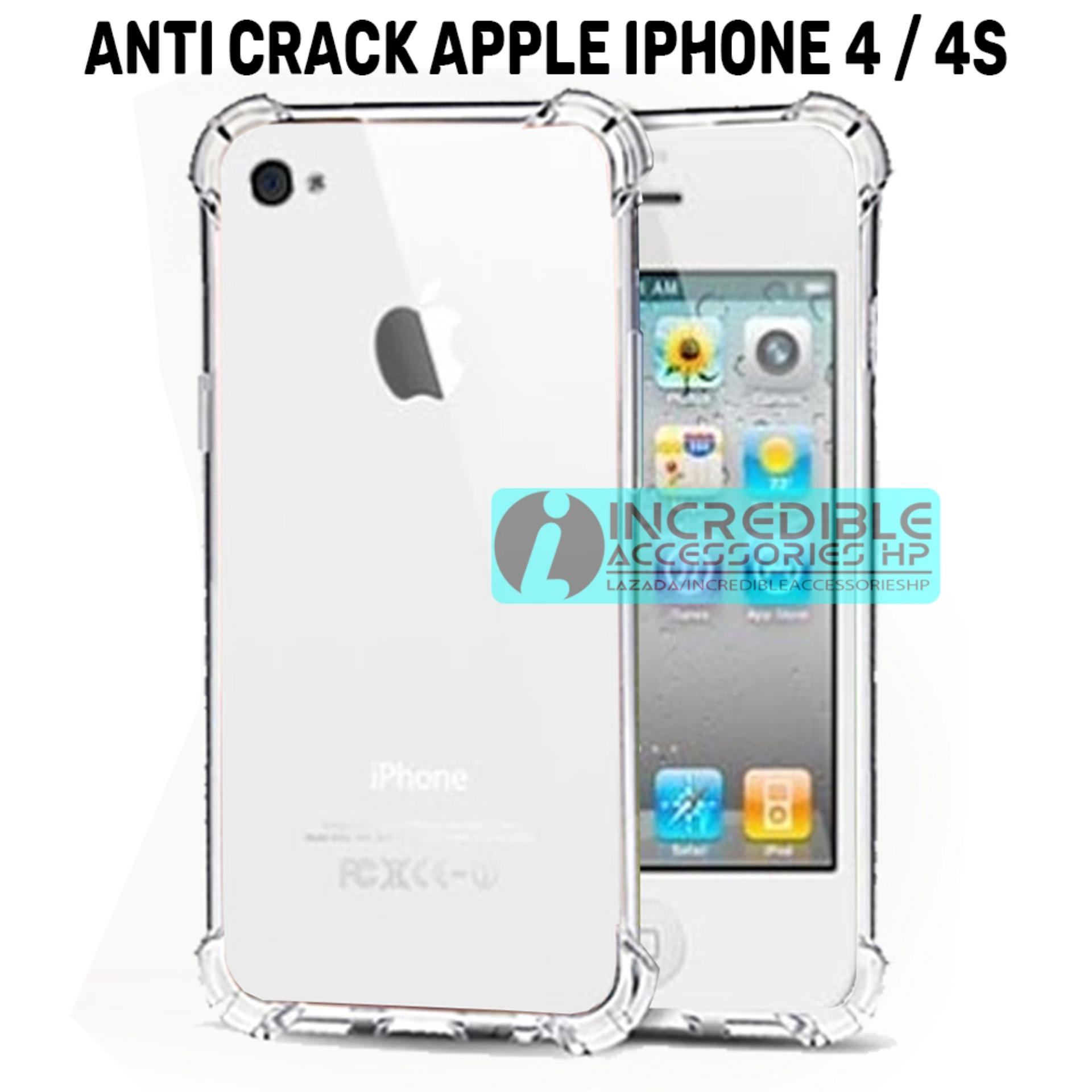 Case Anti Shock / Anti Crack Elegant Softcase  for Apple iPhone 4 / 4S / 4G - White Clear