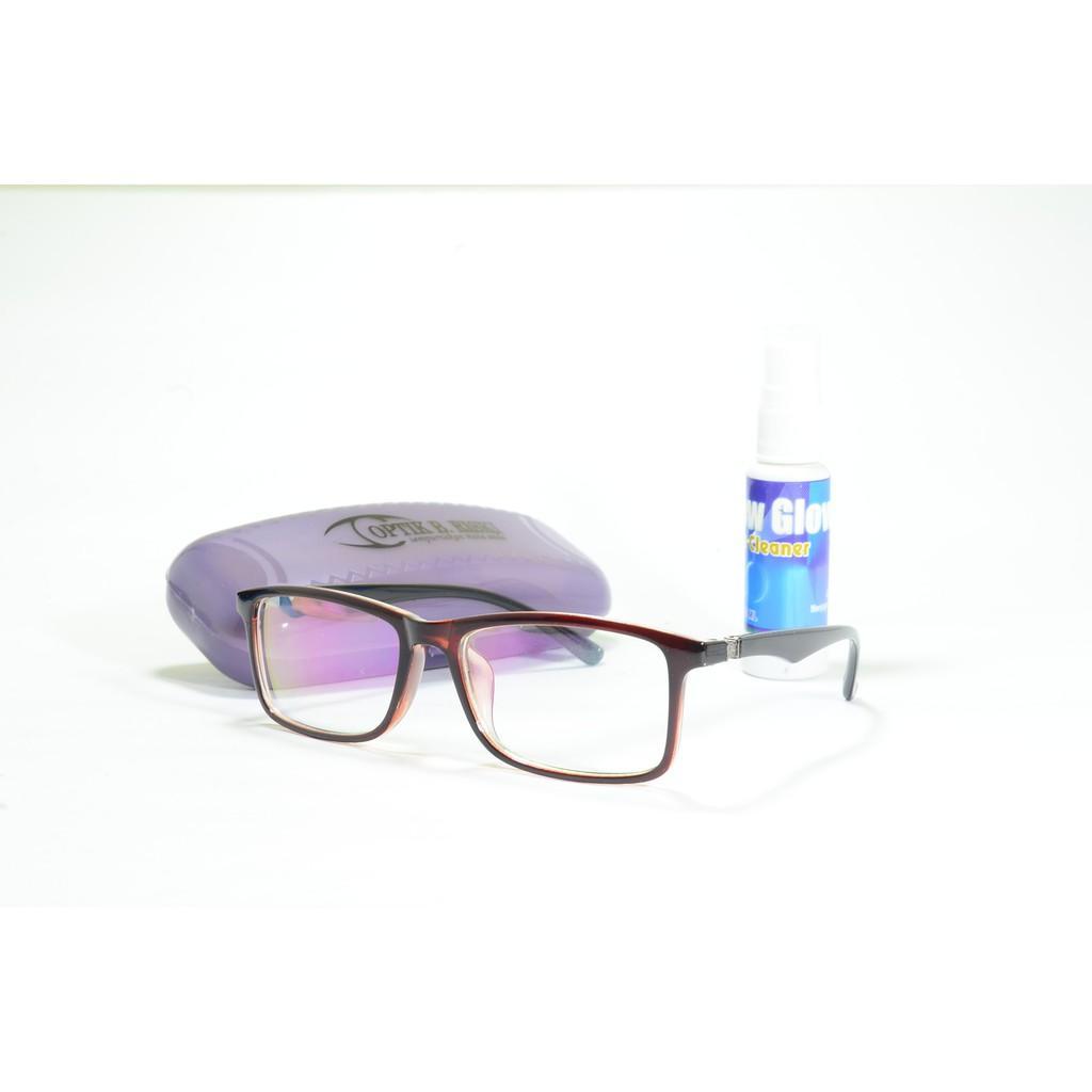 Frame Kacamata Minus Porsche Anti Radiasi+Lensa Optik Coklat