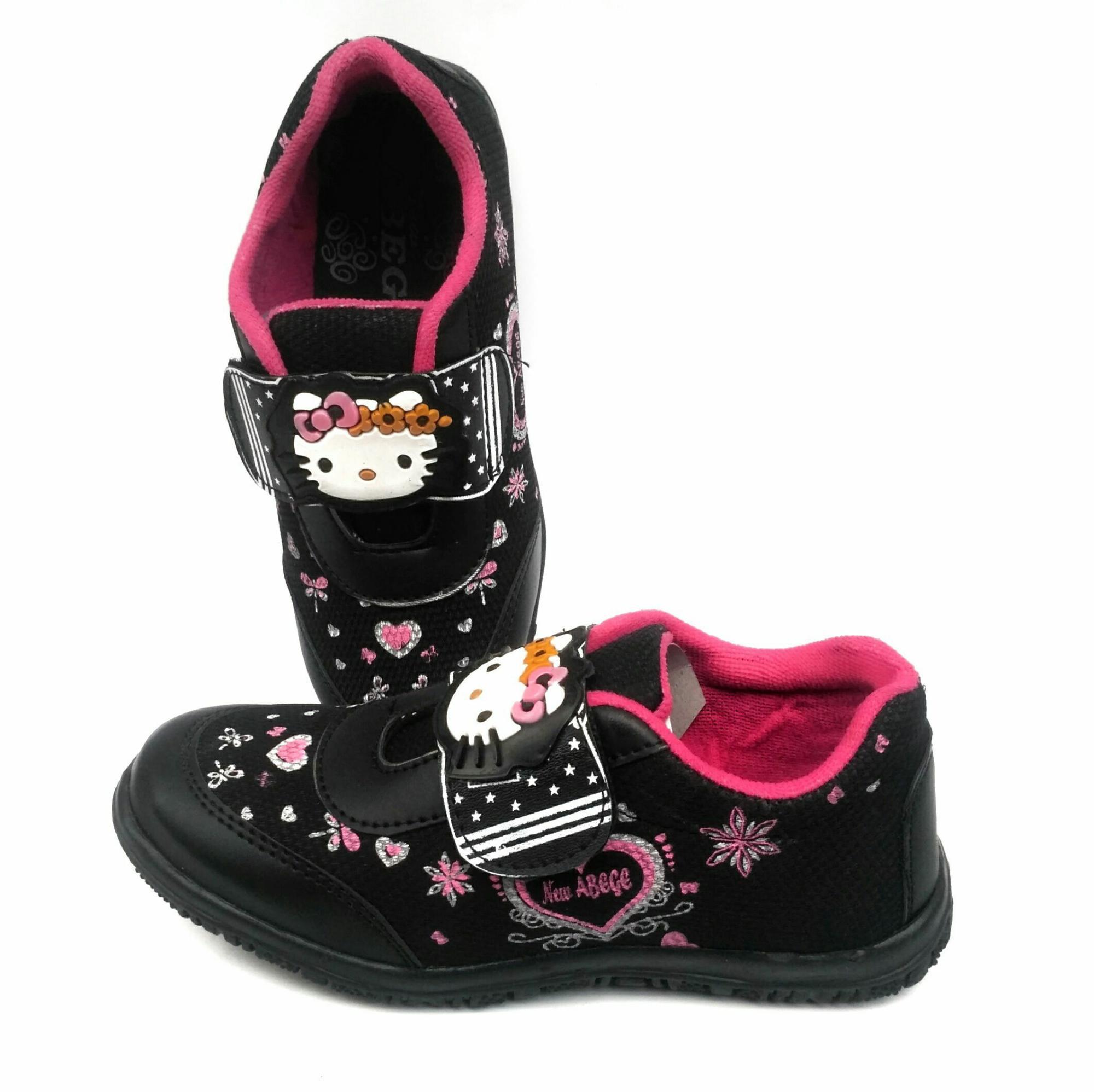 Fashion Anak Perempuan Jegging Size L 4 5 6 Tahun Jeging Celana Panjang Joger Sooko Sepatu Sekolah Sd Hello Kitty Hitam