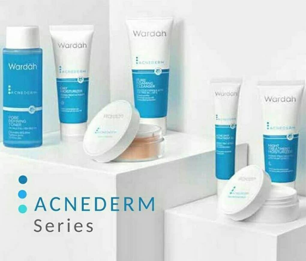 Jual Perawatan Kulit Wardah White Secret Pure Treatment Essence Paket Acnederm Series 7 Pcs