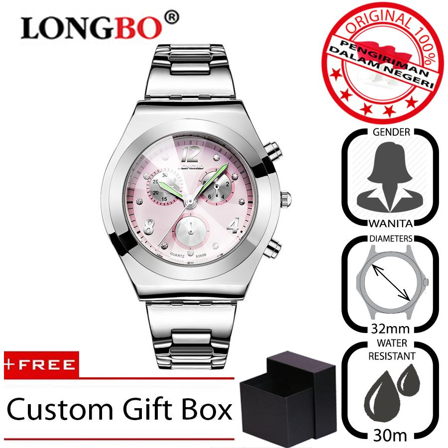Longbo 8399 Jam Tangan Wanita Original Casual Bisnis Fashion Mewah Premium Stainless Steel Metal By Finivo Store.
