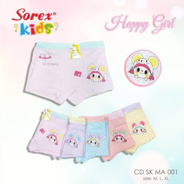 Sorex - 3 Pcs Celana Dalam Anak Perempuan - Boxer Anak By Sorex Kids By Grosist.