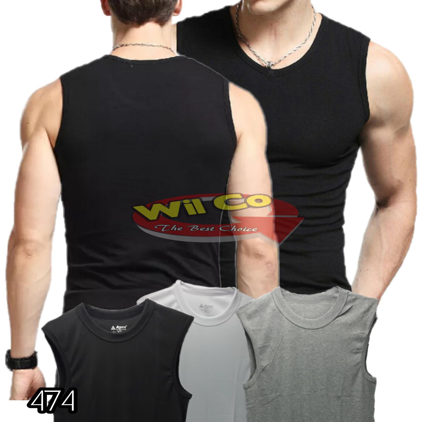 K474 - Kaos Pria - Kaos Oblong - Kaos Tanktop - Kaos Fitness - Singlet Agree 01879ec672