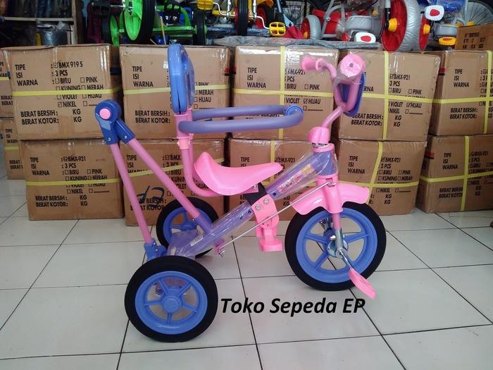 SALE - Hot Item Sepeda Roda 3 anak PMB plus dorongan plus jagaan Balita Original