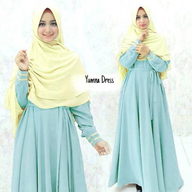 Gamis Wanita  - syari YUMNA dress maxi baroteli hijab set