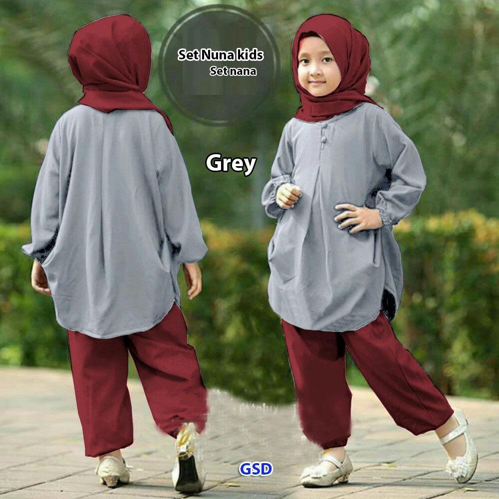 GSD - Setelan Baju Anak Cewe/Baju Muslim Anak/Set Nana Kids