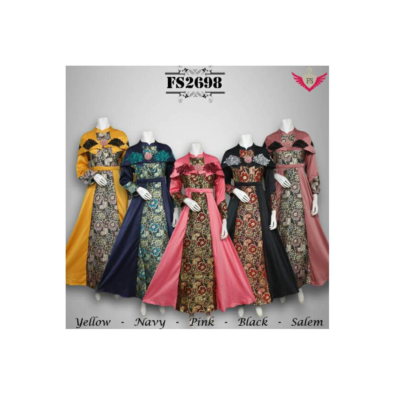 gamis busana muslim maxi dress jubah abaya kaftan batik baju pesta