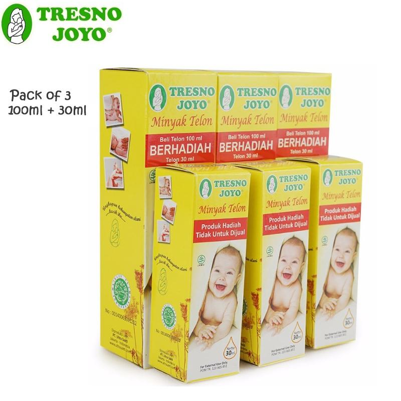 Tresno Joyo Minyak Telon 100 Ml (free Minyak Telon 30 Ml) Pack Of 3 By Babys Stuff.