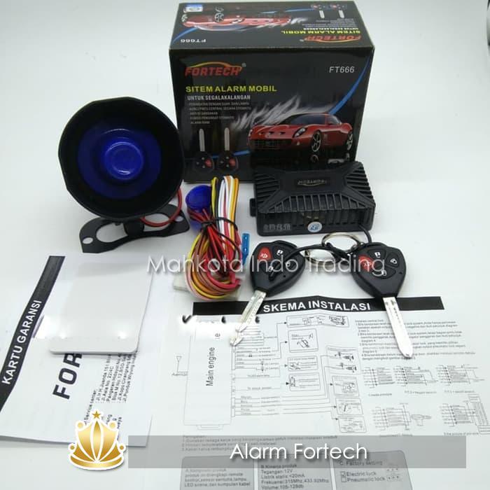 Alarm Mobil Tuk Tuk TukTuk FORTECH FT666 Model Kunci Innova Universal