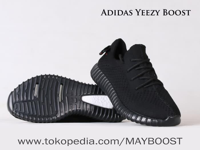 SNEAKERS ADIDAS YEEZY BOOST PIRATE BLACK | Jual Sepatu Premium Import - Hitam, 38 - fuOp1a