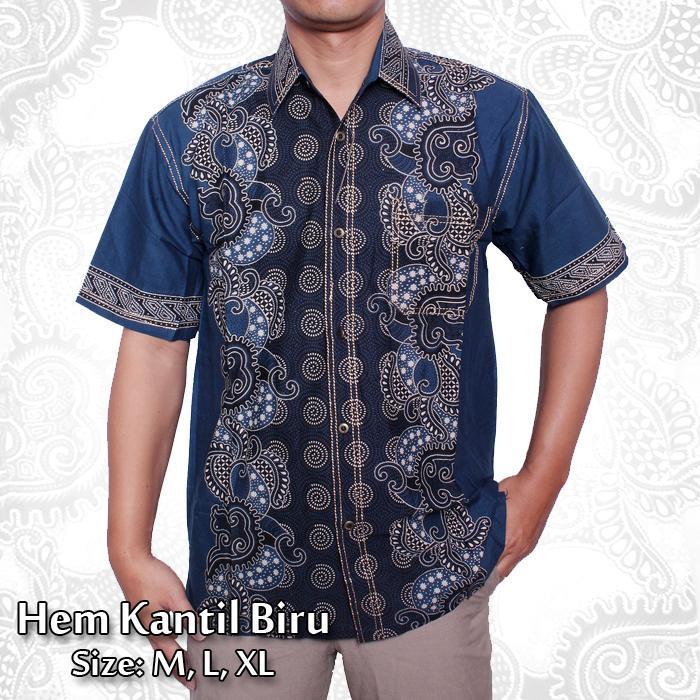 Batik Nandhut - Kemeja Batik Pria Biru