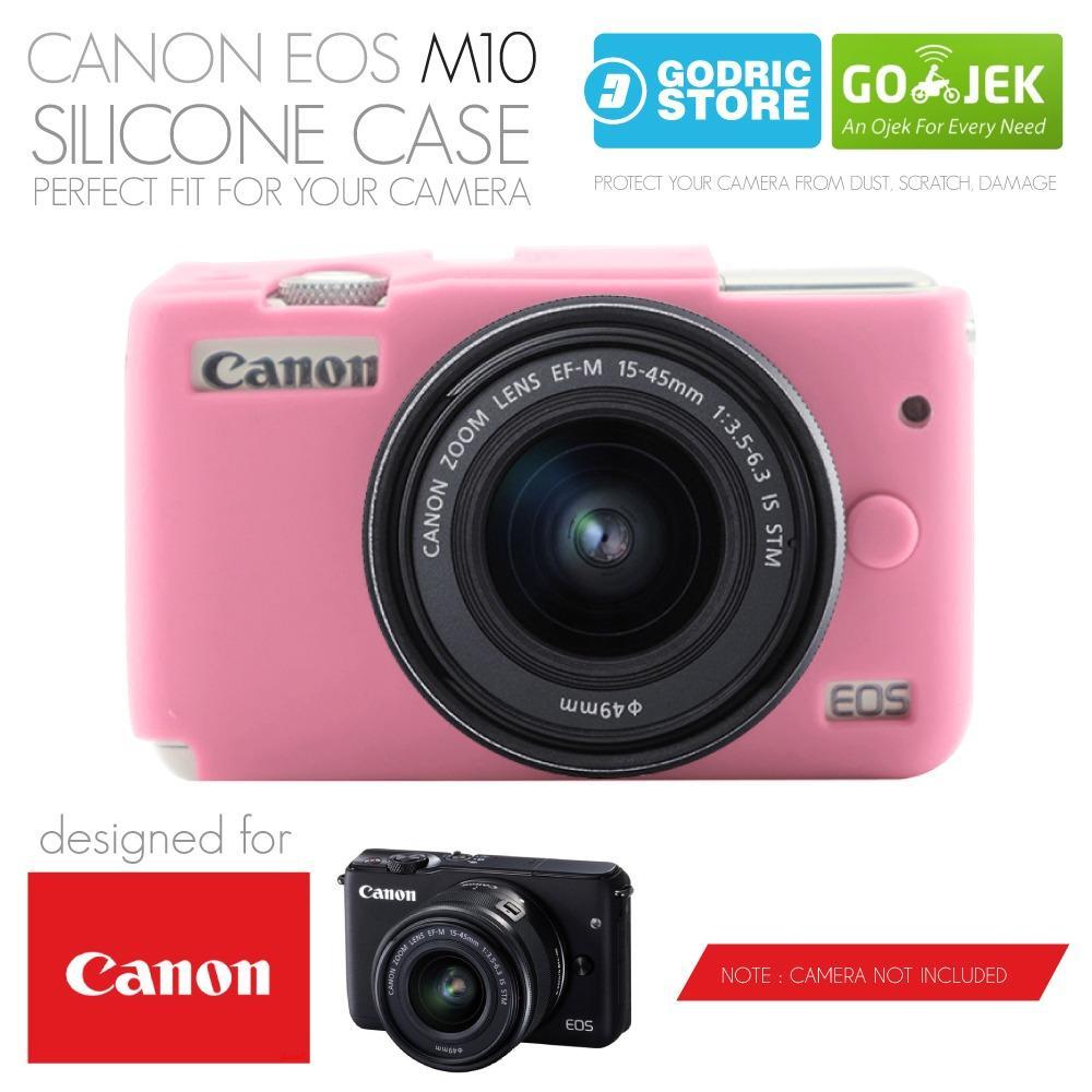 Godric Silicone Canon EOS M10 Silikon Case / Sarung Silicon Kamera Mirrorless - Pink Muda