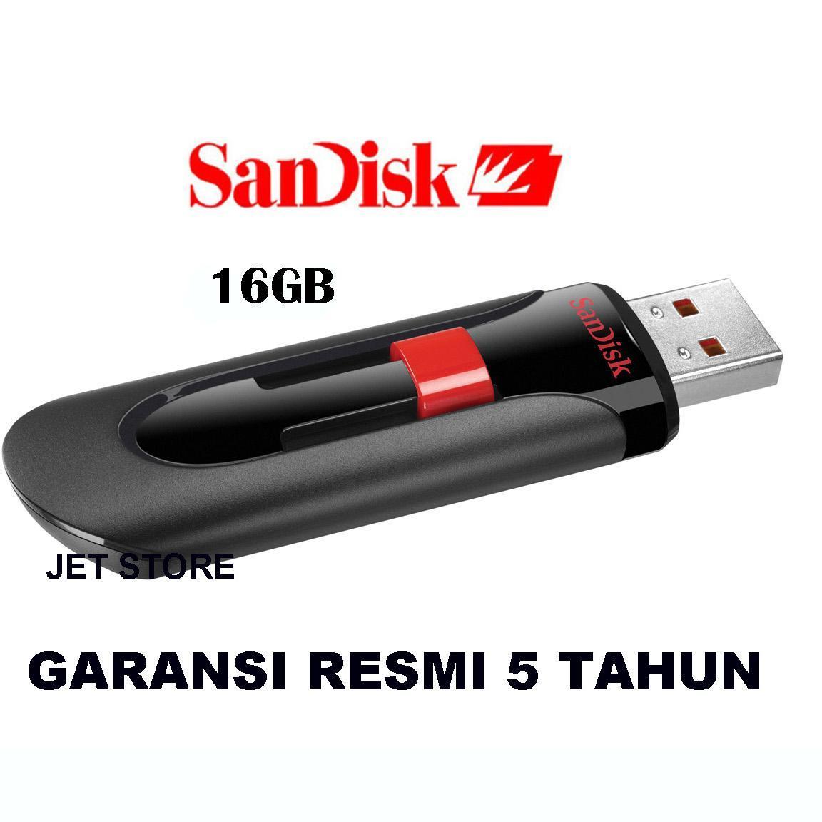 Sandisk Flashdisk Cruzer Glide CZ60 16 GB - Hitam
