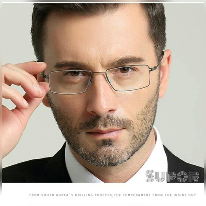 Kacamata Elegan Full frame FF30 Pure Titanium Kaca mata minus pria