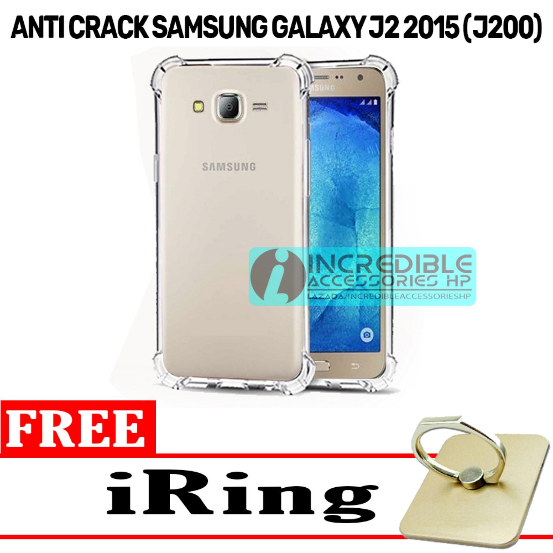 Case Anti Shock / Anti Crack Elegant Softcase  for Samsung Galaxy J2 2015 (J200) - White Clear + Free iRing