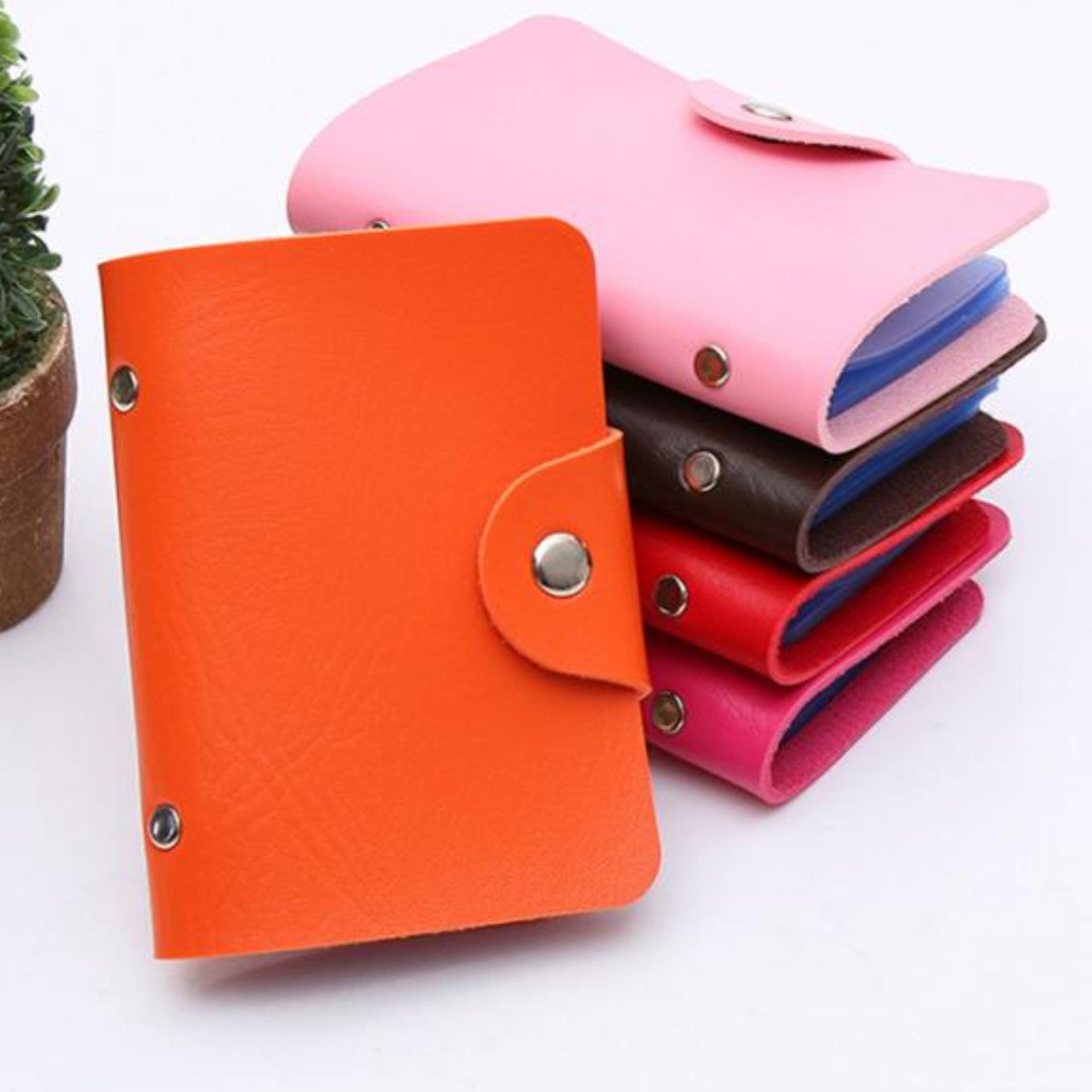 ZeeBee Dompet Kartu 24 Slot - PU Leather Card Holder - Tempat Kartu Nama / Kartu