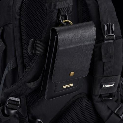 Sarung HP DG Ming Pinggang Kulit Asli 2 HP Handphone Vertikal dengan Carabiner Ukuran 6 - 6,5 Inch (18 X 10 Cm) / Sarung HP Kulit / Dompet HP Pinggang / Dompet HP Kulit / Tas HP Pinggang / Tas HP Kulit / Tempat HP Pinggang / Tempat HP Kulit