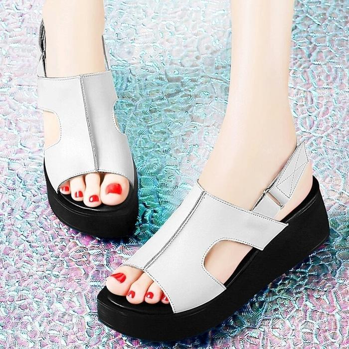 Harlee Store-Sepatu Wanita Wedges Sandal Wedges HS-1116