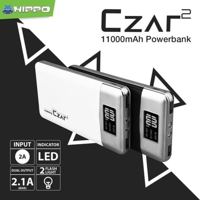 Power Bank Original POWERBANK HIPPO CZAR2 11000Mah LED PUTIH