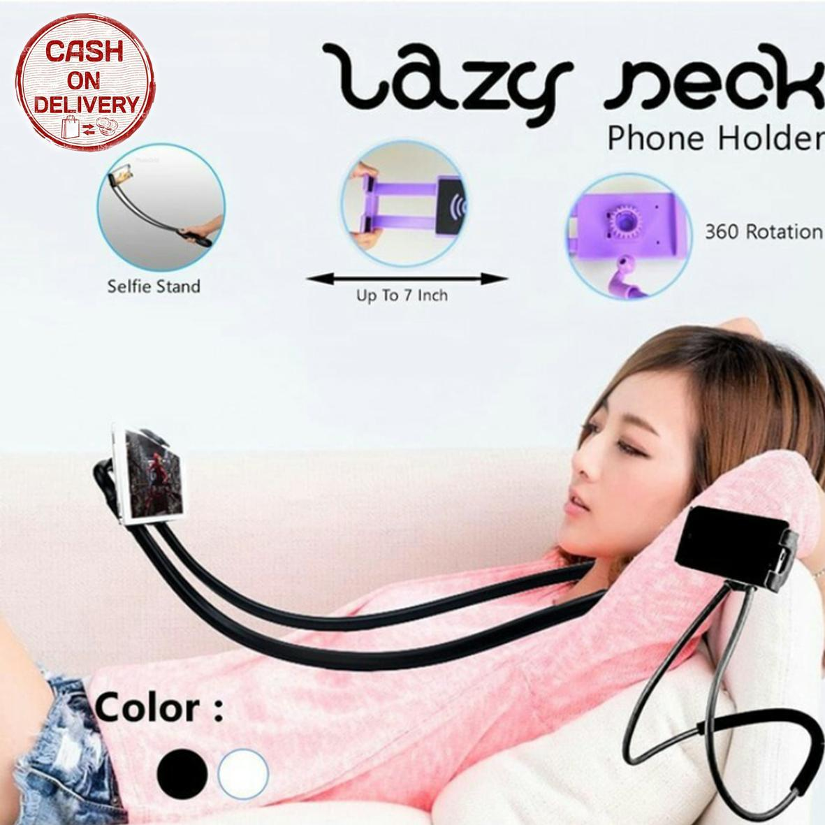Kado Unik-- Lazy Neck Holder Smartphone / Holder Hp Gantung Dileher Praktis / Holder Leher Panjang