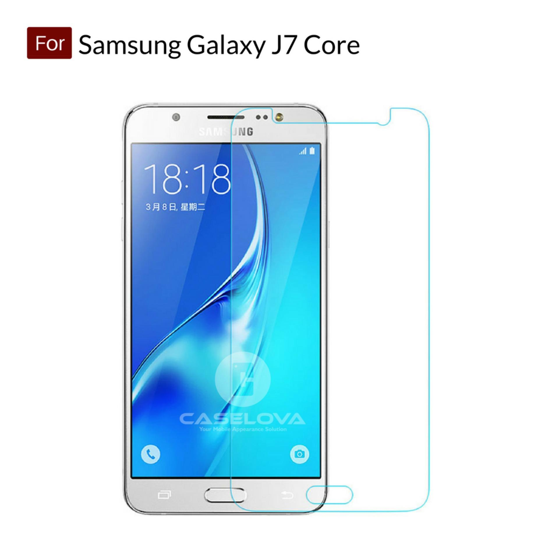 Tempered Glass Screen Protector Anti Gores Kaca Samsung Galaxy J7 Core - Clear