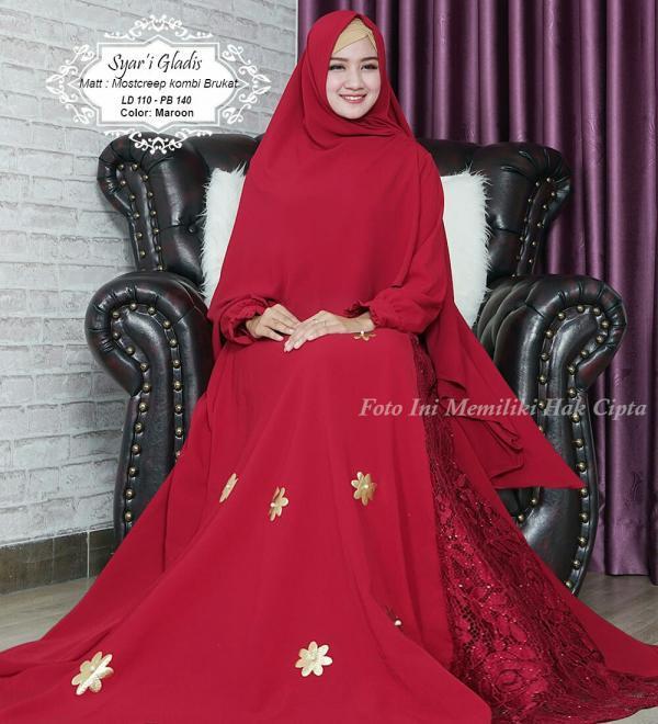 New Gladis Syari - Baju Muslim Murah Terbaru 2018 Grosir Pakaian Wanita Busana Pesta Modern Gamis S