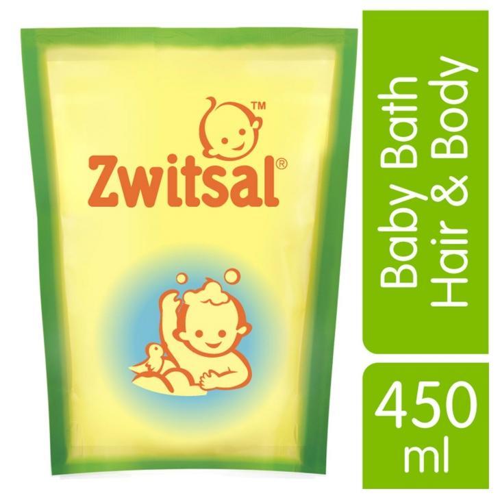 Sale Zwitsal Baby Bath 2 in 1 Hair & Body 450ml Pouch - Sabun dan Shampoo Bayi Promo