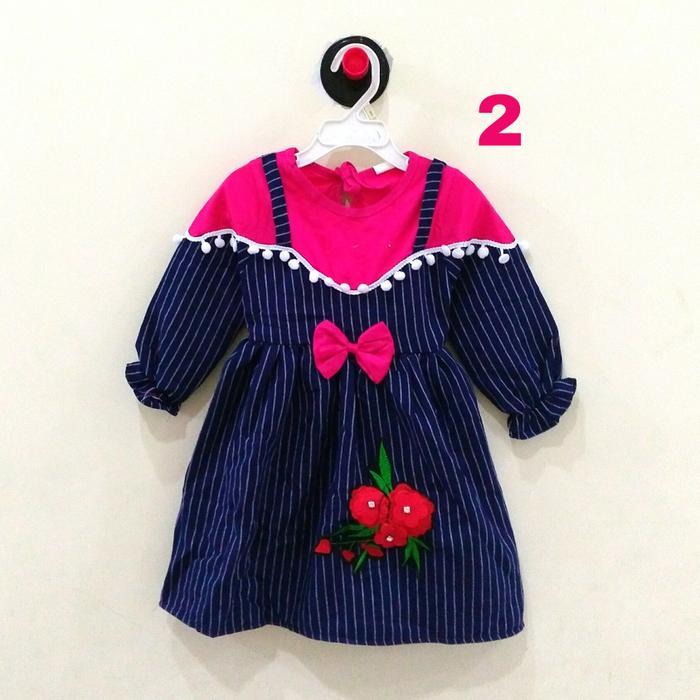 Dress Gamis Anak Bayi Perempuan / Cewek + Jilbab ( 1 - 2 th) All Size - baju gamis anak perempuan terbaru / baju gamis anak perempuan termurah / baju gamis anak perempuan berkualitas / baju anak / baju gamis / baju keren / baju muslim anak perempuan / baj