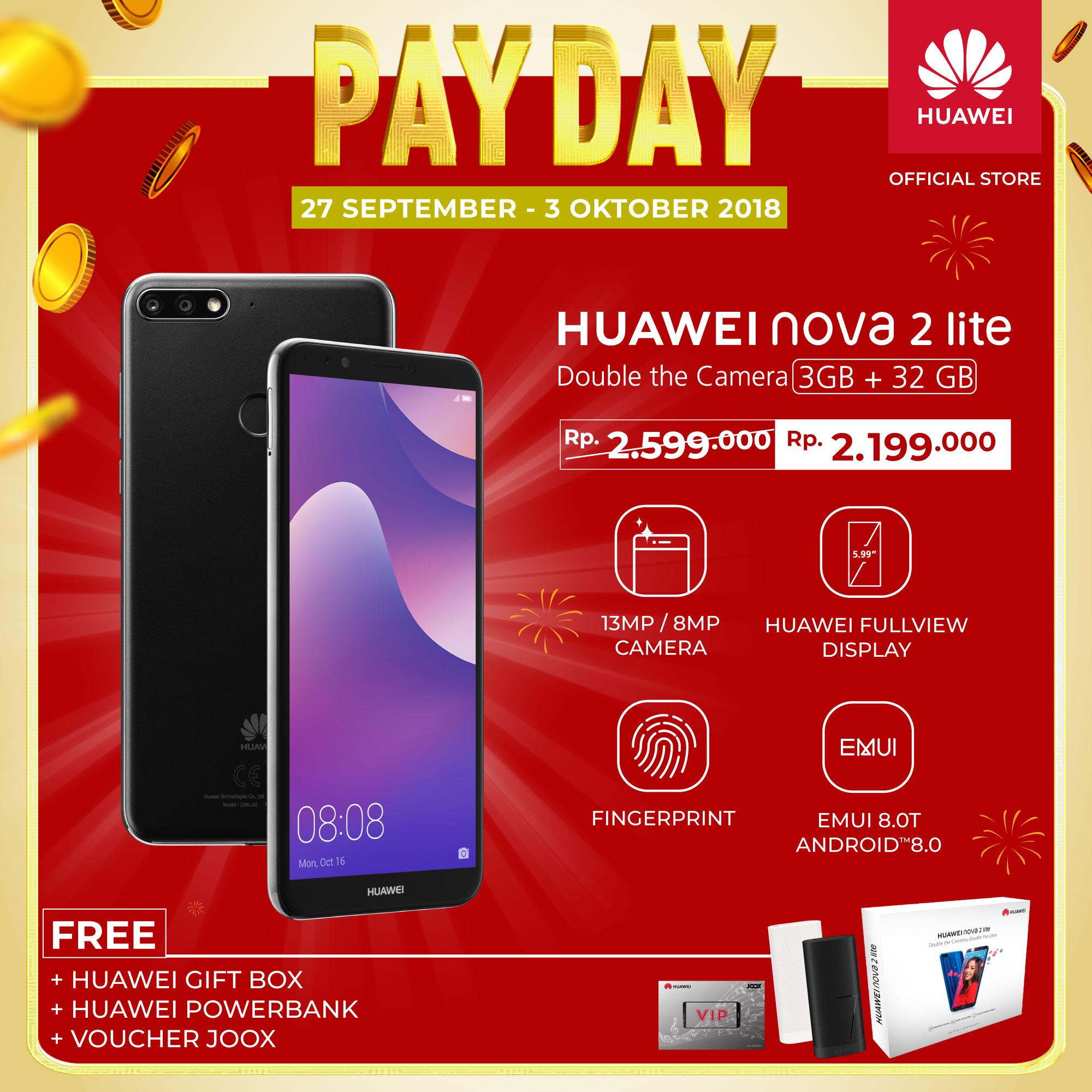 Ulasan Huawei Nova 2 Lite Double Camera 3gb 32gb Free Triple Gifts Voucher Joox