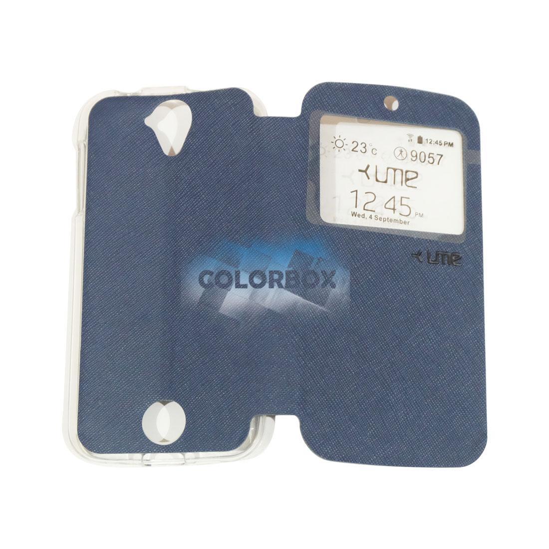 Ume Flip Leather Phone Cover Acer Liquid Z320 / Acer Z330 Ukuran 4.5 Inch Sarung Case / Flipshell Acer Liquid Z320 / FlipCover Acer Z330 Ukuran 4.5 Inch Ume / Leather Case Acer Z330 Ukuran 4.5 Inch / Sarung HP Acer Liquid Z320 Ume View - Biru Tua