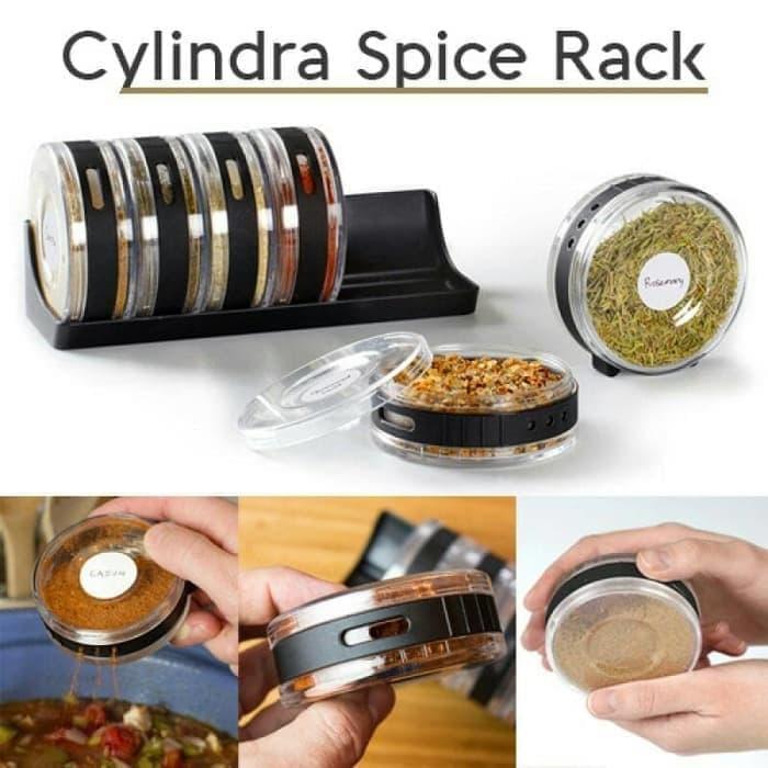 Cylindra Spice Rack Bumbu \U002F Rak Bumbu Bulat \U002F