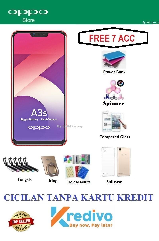 Oppo A3S Ram 2GB/16GB - Bisa Cicilan Tanpa Kartu Kredit + Free 7 Items