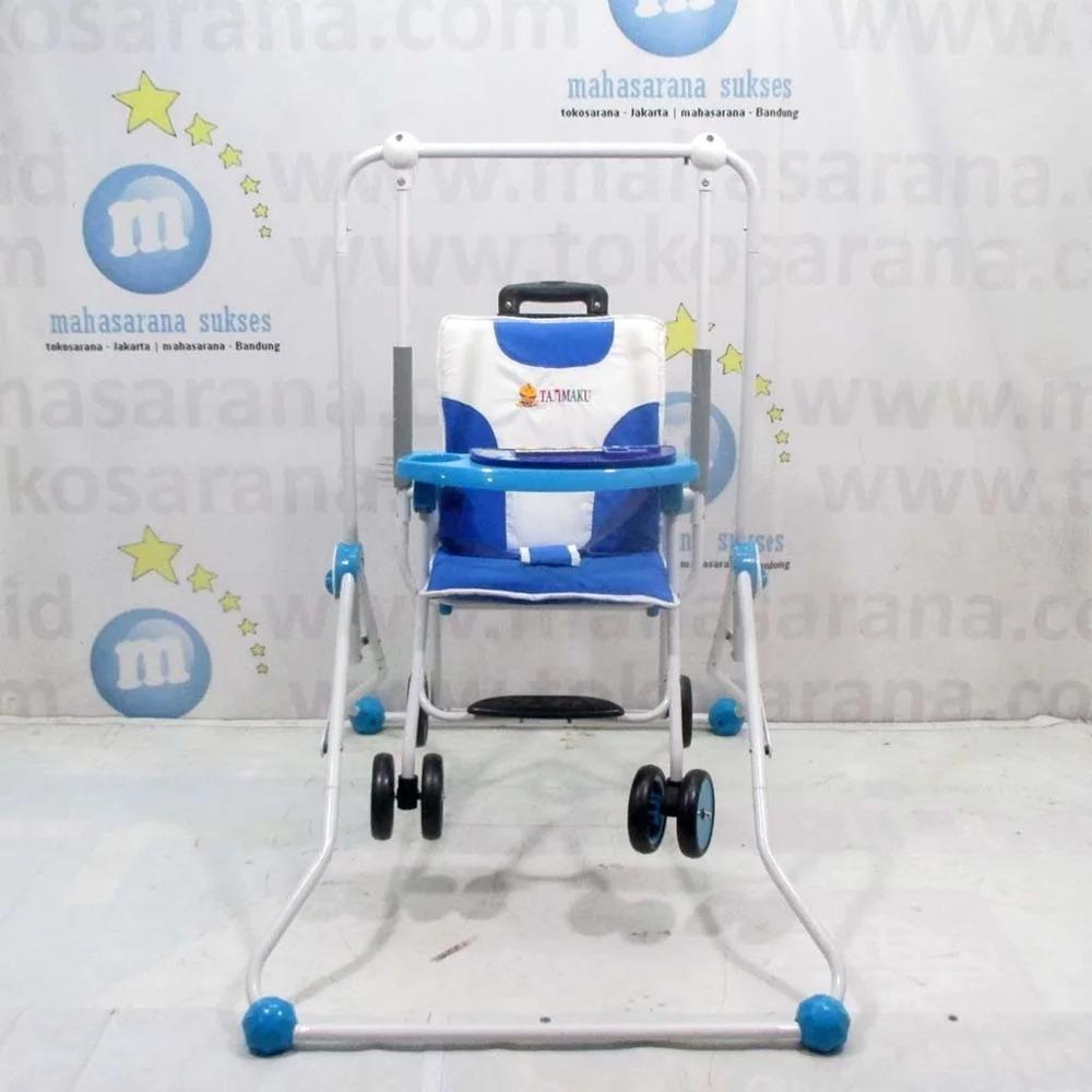 Baby Swing And Chair Stroller Ayunan Kursi Makan Merk Tajimaku Bayi Joe Yi Promo Terbatas Buruan Di Klik Bs203 Train Express 2 In One Dorong Anak