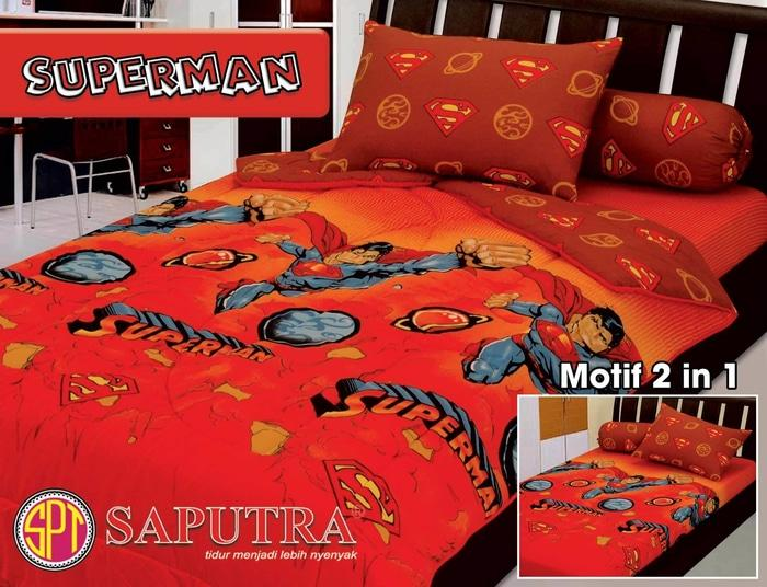 Sprei Saputra Single 120 X 200 Superman