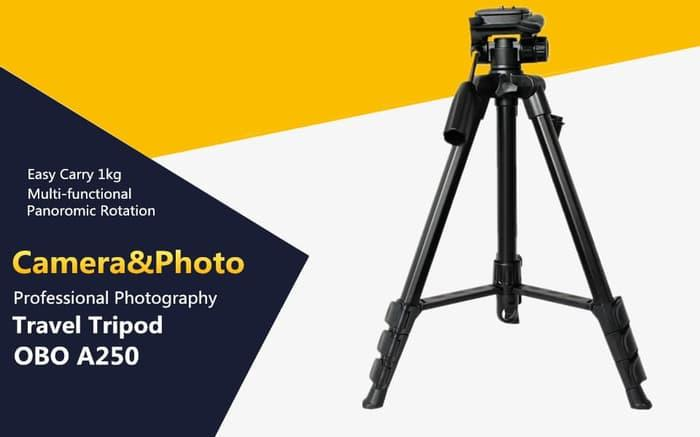 Best Seller!! Professional Tripod Obo A250 + Pouch - ready stock