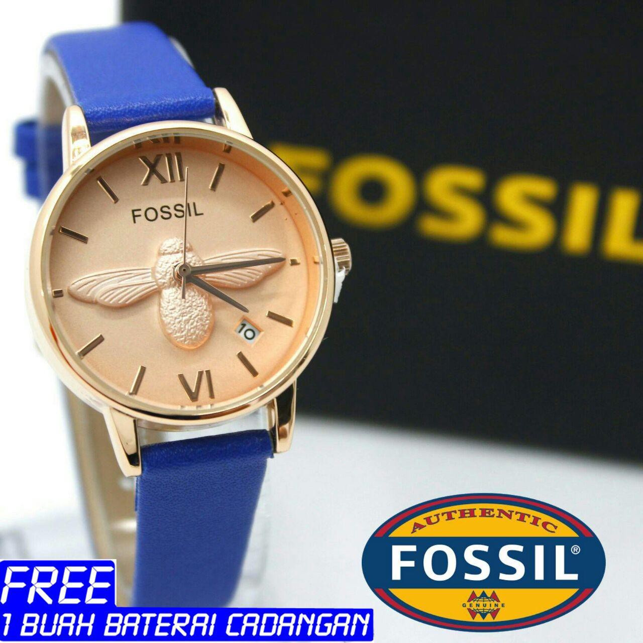 Fossil Es3811 Jam Tangan Wanita Leather Strap Silver Daftar Harga Es3908 Original