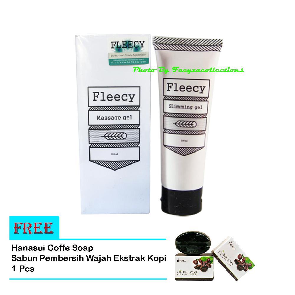 Fleecy Slimming Gel / Fleecy Massage Gel Original Kemasan Baru - Gel Pelangsing / Free Coffe