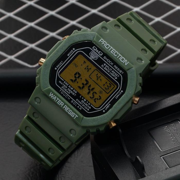 JAM TANGAN DIGITAL ABG/PRIA Q&Q WATERESISTAN/ANTI AIR STRAP RUBBER