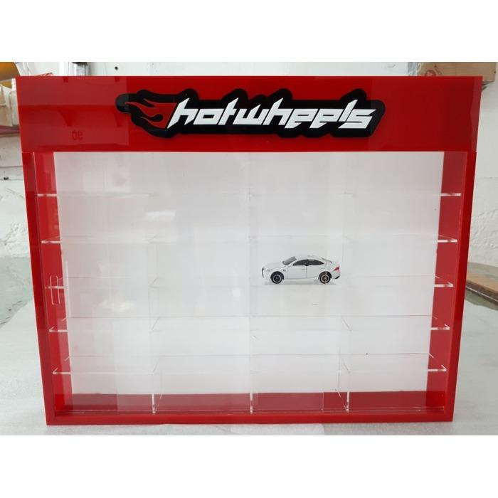 Rak Rack Hotwheels 1:64 Isi 24 Header Slim Fit Edition